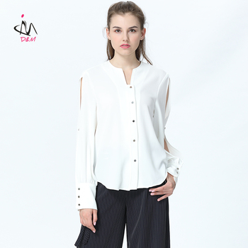4306388467af48 Front Short Back Long Top Latest Shirt Designs For Women Buttons Fork Long  Sleeved White Shirt