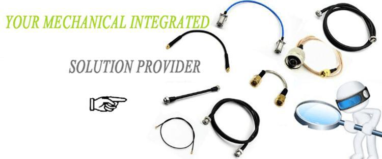 RG316 cable assembly RF Coaxial wire kit MMCX male right angle to SMA female bulkhead