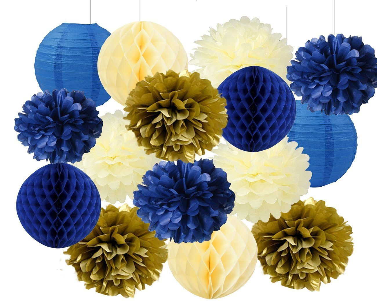 Royal Blue And Gold Baby Shower Decorations Packages from sc02.alicdn.com