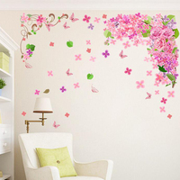 Removable 3d home decor vinyl decals for wall