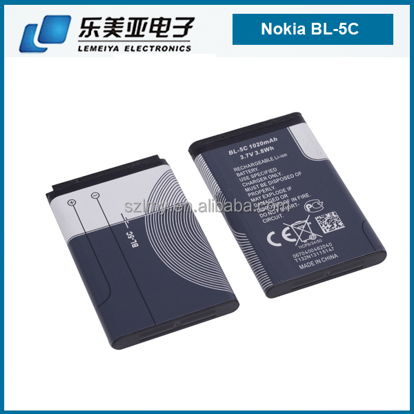new OEM chargers BATTERY FOR nokia phones used spice 1020 lithium battery for nokia BL-5C