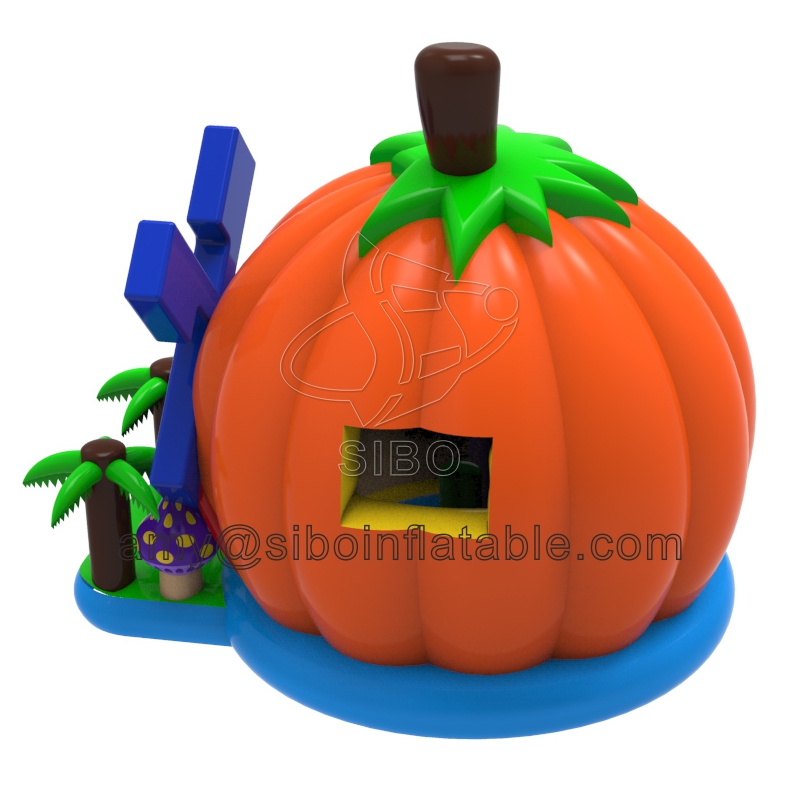 001J16080005 out door inflatable pumpkin jumping bouncer for kids in hire rental