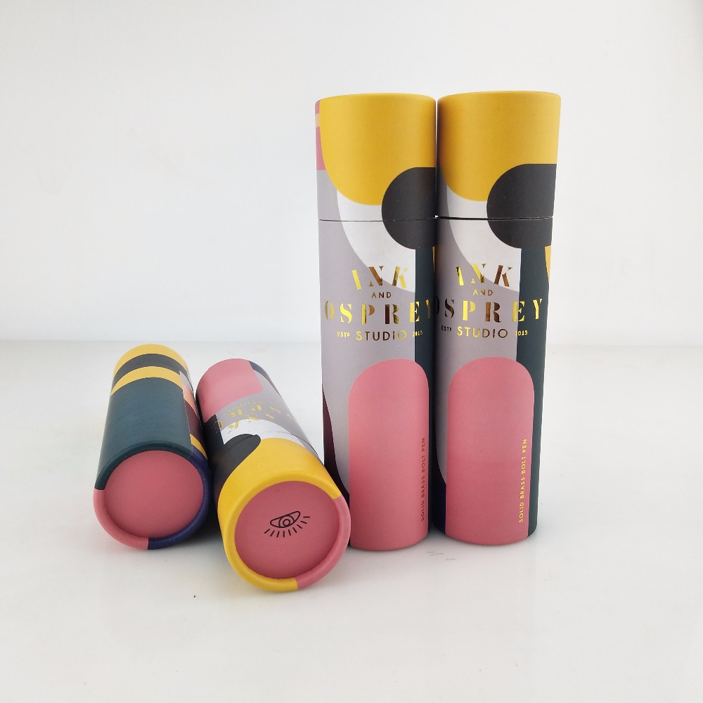 custom paper tube packaging box for pen