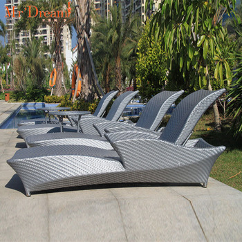 Mr.Dream Rattan wicker modern outdoor pool lounge chair(accept customized)