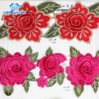 2018 Hot Sale 3D Rose Flower Lace Trim for Garments