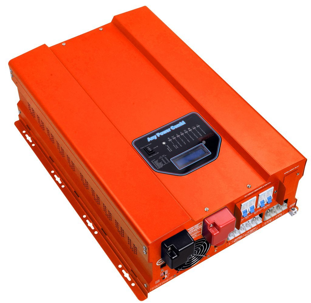 HFV Series ZODORE 8000w Peak 24000w Low Frequency Split phase Pure Sine Wave Inverter / Charger, Built in with 40amp Mppt Solar Charger Controller,DC48v/ AC 110v/220v Converter LED&LCD, Utility/ Inverter /Charger /Transfer SW /Solar Power /AGS All in One!