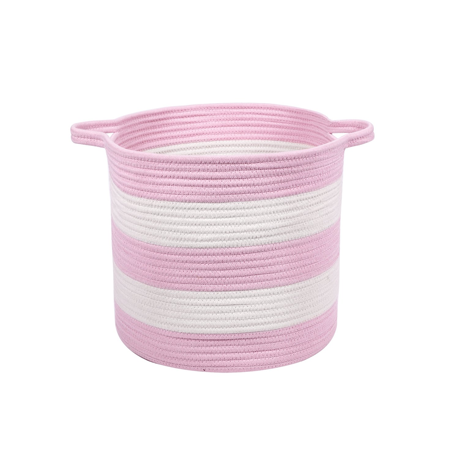 Get Quotations M2 Home Accessories Cotton Rope Storage Basket With Handles Woven Baskets For Kid S Toys Organizing