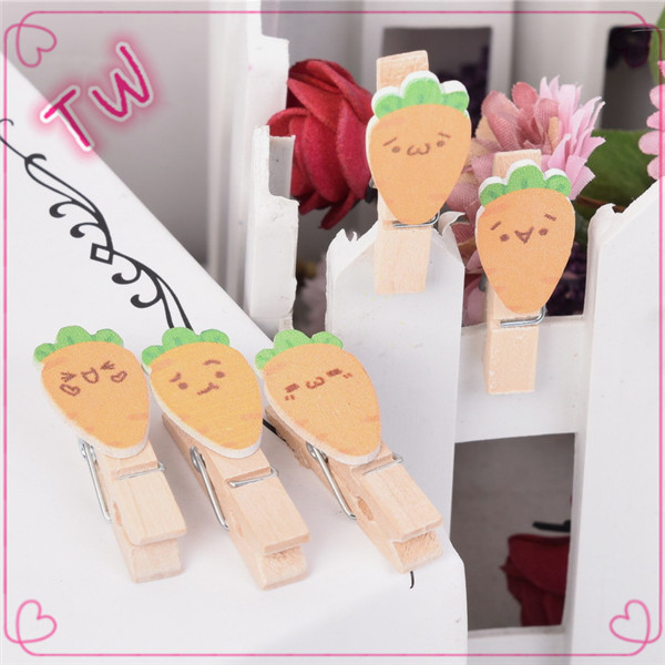 Cute carrots shaped clips for clothing,Japan girls fashion decoration mini clips,eco-friendly wood clip board online shopping