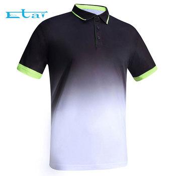 6e23a284df4e men sublimation printing 100% polyester sports cheap workout polo t shirt