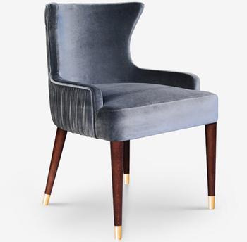 Gardner Dining Chair Polished Brass Feet Restaurant Chair Dining