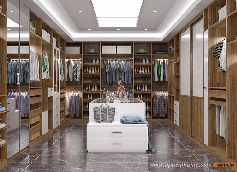 villa de lujo grano de madera vestidor diseo armario muebles para el hogar - Vestidores De Lujo