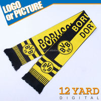 Soccer fans customized-made shawls& Westfalen Stadium Dortmund digital printed scarves