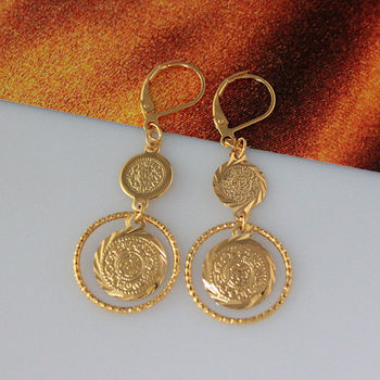 Simple gold earring designs for women muslim jewelry gold earring