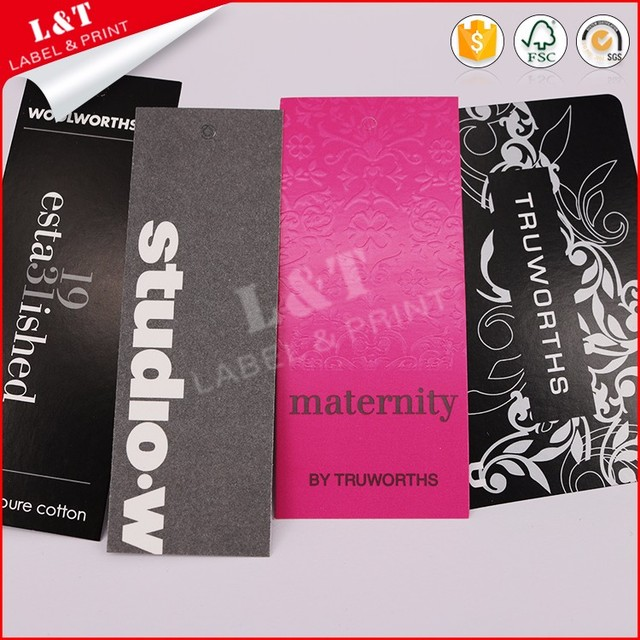 Factory Direct Paper Hand Made Printed Paper Hang Tag