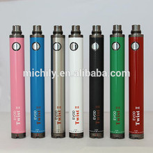 CE4 E cigarette Ego evod twist 2 battery evod VV II variable voltage battery wholesale