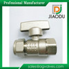 1/2 inch Zinc alloy handle nickel plated female brass stem brass ball valve for pex al pex pipes
