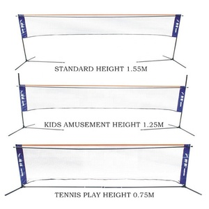 3 M Kids sports net stand with folding steel pole height adjustable badminton tennis soccer volleyball net stand frame