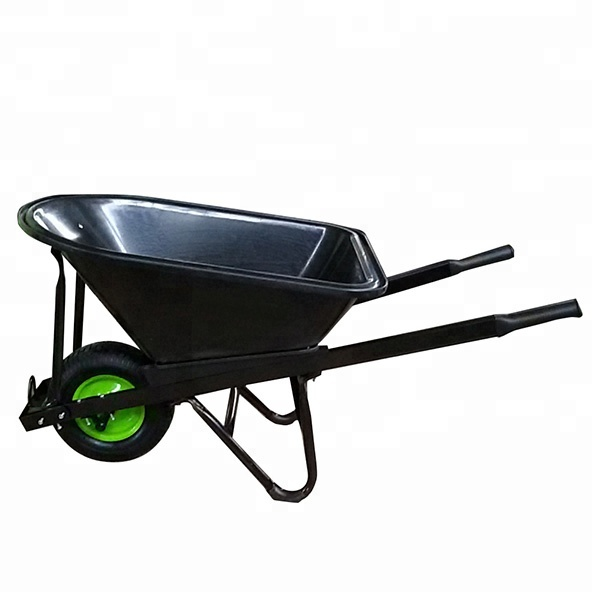 yard cart WB8612 big size 6 CU FT poly wheelbarrow with wide wheel and plastic bucket for Australia market