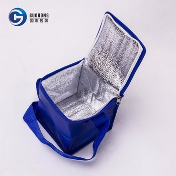 Factory Price Promotion Aluminum foil Insulated Non Woven 6 Can Cooler Bag