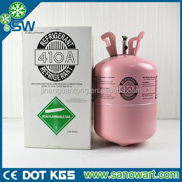 Various packaging specifications of mixed R410a refrigerant gas