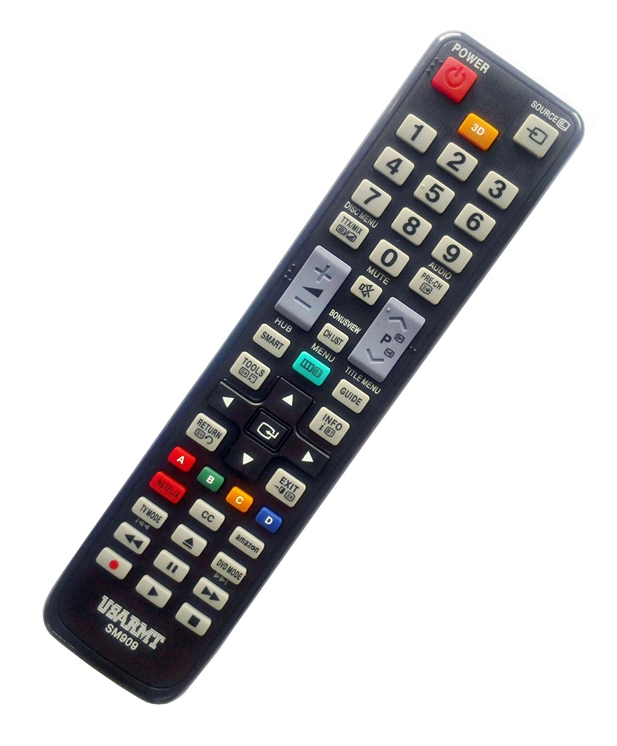 NEW Samsung Universal TV&DVD Blu-ray Player Remote Fit for 99% Samsung Plasma LCD LED 3D TV & DVD Blu-ray Player, replace AA59-00580A AA59-00637A BN59-01041A BN59-00996A BN59-00857A AK59-00104R.
