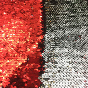 Ecofriendly Paillette Designer Double Sided Dress Making Sequin Fabric Dubai Embroidery Designs