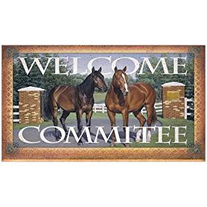 Rivers Edge Products Welcome Committee Horse Door Mat by River's Edge Products