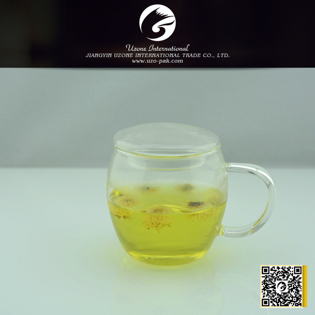 glass tea cup with lid,transparent borosilicate glass cup