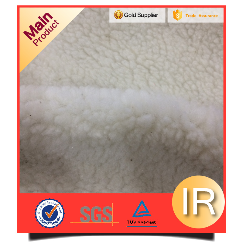 Our factory strong item used for winter lining sherpa fleece fabric
