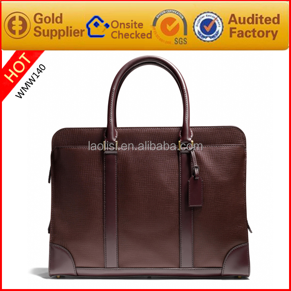 Alibaba hot sale italian leather handbag men made in china