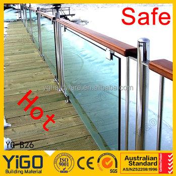 Glas Holz Gelander Balustrade Yg B12 Buy Holz Balkongelander