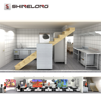 Shinelong Customize Consultant Professional Solution Guyana Troii Sushi Restaurant Kitchen Design