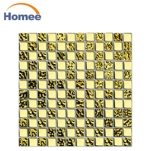 china supplier luxury gold mosaic tile/golden select mosaic wall tile