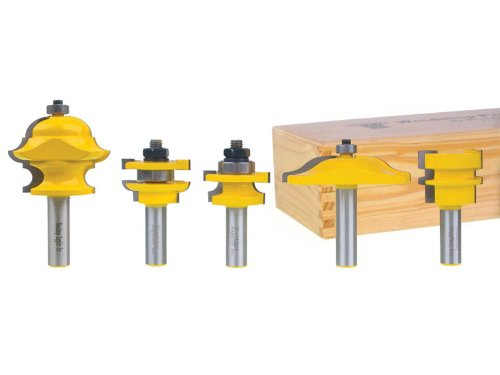 Yonico 12536 Raised Panel Cabinet Door Router Bit Set with Multi Form Molding Bit 1/2-Inch Shank