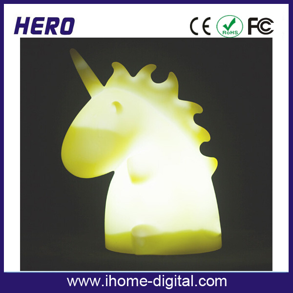 Children's gift plastic unicorn table lamp