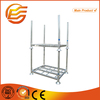Hot-dip galvanized steel pallet with removable post