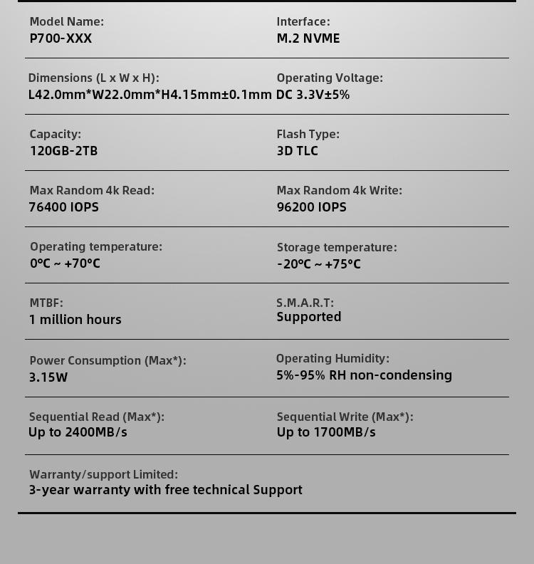 KingSpec M.2 PCIe NVME Internal Harddrives SSD 240GB Enterprise Server Hard Disk Drive
