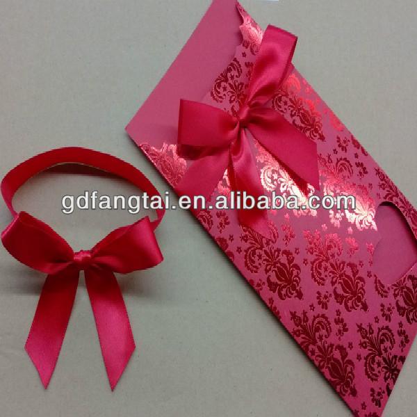 regalo de la cinta y lazos para tarjeta de invitacin de boda decoracion