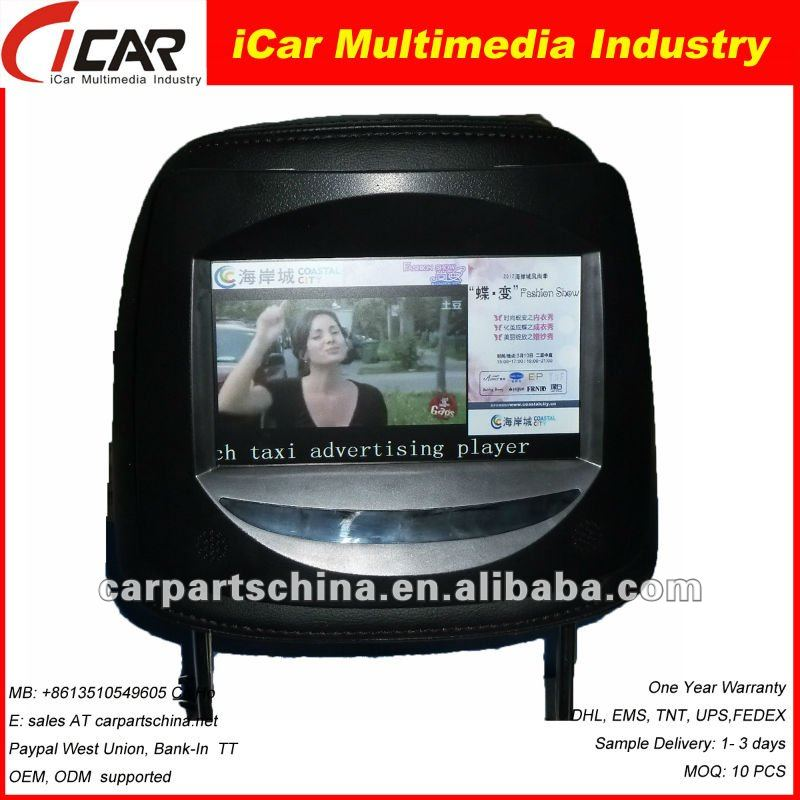 2012 word First!WIFI 3G 7 inch Tft Monitor with headerest