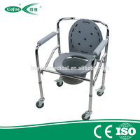Cofoe Aluminum lightweight kursi toilet commode chair with wheelchair, bedside commode