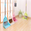 2019 most popular soft bristle broom and dustpan suit