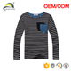 urban blank long sleeve black and white striped t-shirts for kids