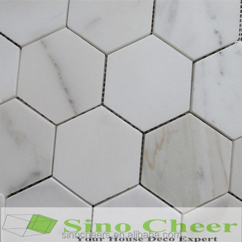 The Super Bianco Carrara Marble Octagon Mosaic Tiles For Floor And Wall