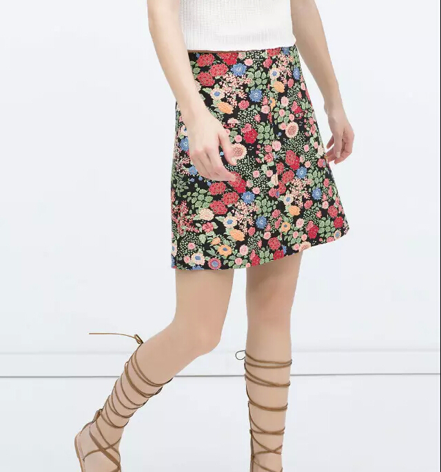 8ee4fc67214 Get Quotations · BSQ335 women s vintage floral A-line mini skirts office  lady casual Skirts brand designer skirts