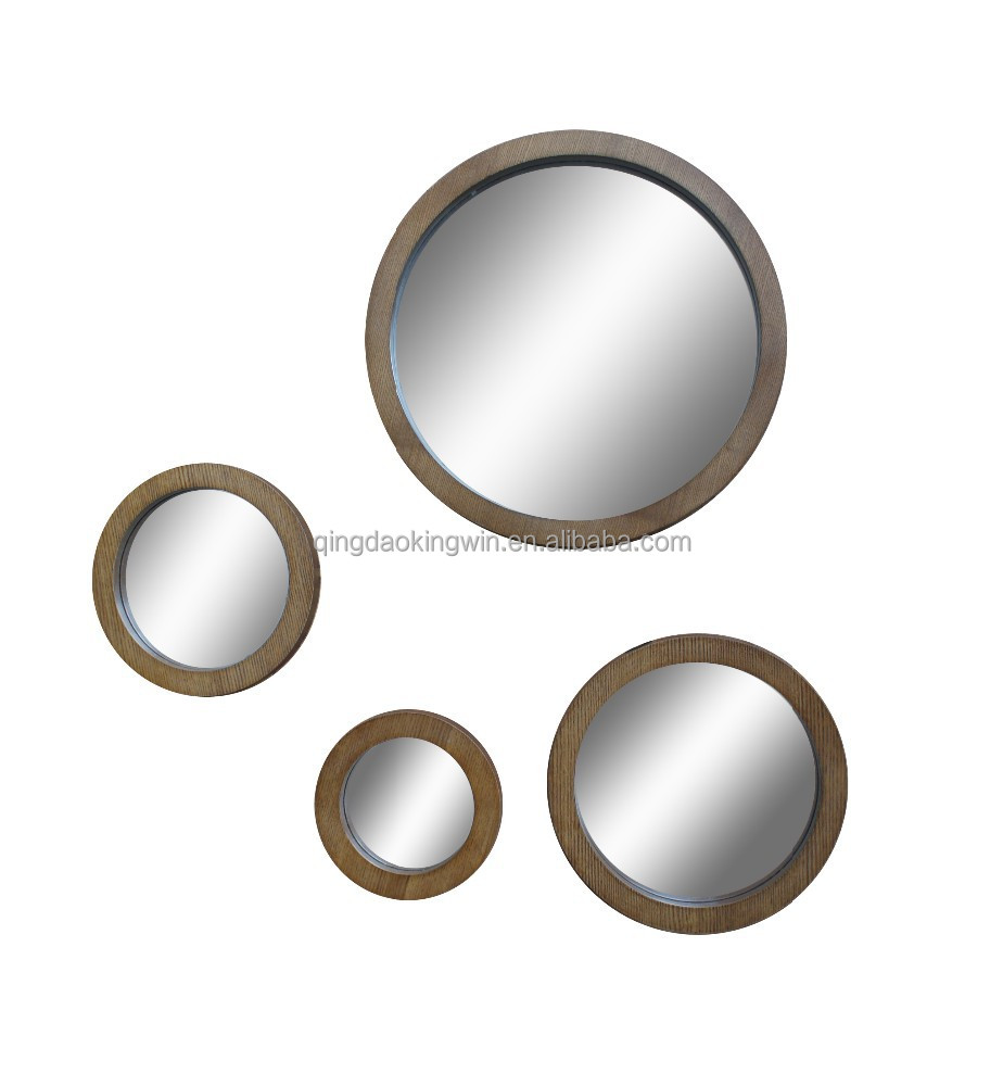 Round Wall Framed Mirror Set Of 42015 New Design Buy Decorative