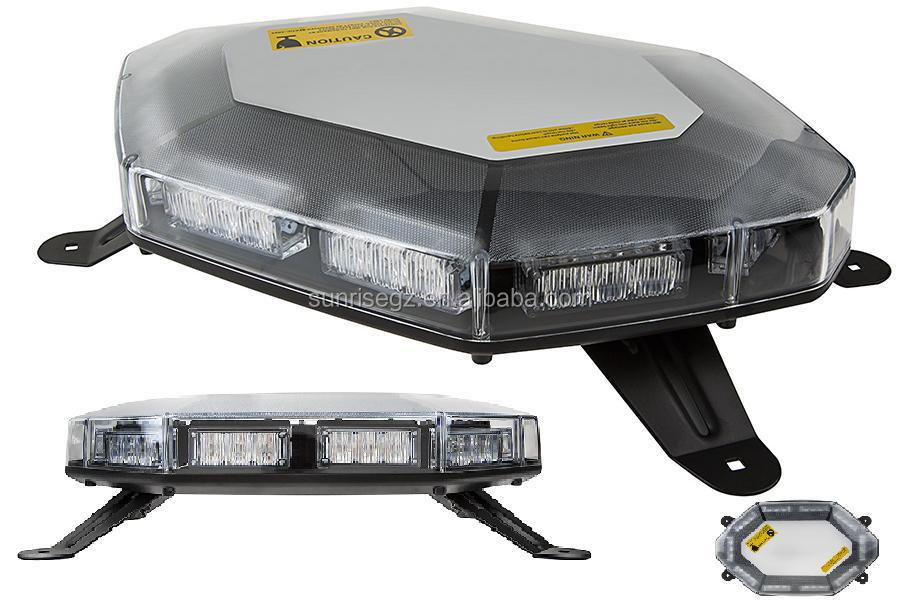 E-MARK R65 LED warning light bar,E9 MiNi LED lightbar,R10 Octagon Beacon(SR-MIB-127P)1W Highpower LED. W Permanent Mount Bracket