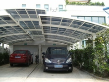 modern half enclosed polycarbonate carports