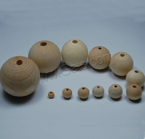 Original Wood Beads Round different size for choice with original color