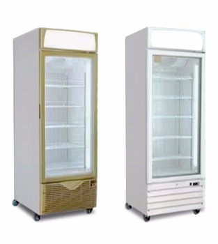 Single Glass Door Upright Beverage Cooler Beer Refrigerated Showcase With 5  Layers