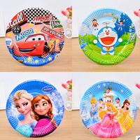 Birthday themed paper tray paper plates with party